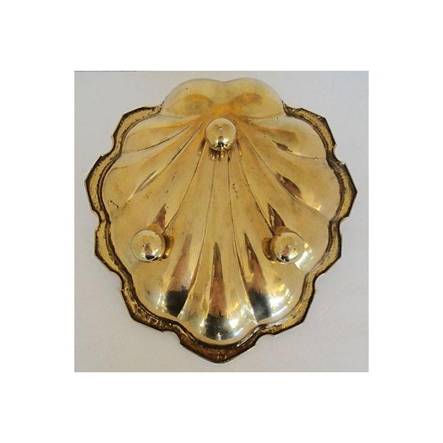 Leaf Shaped Solid Brass Plate - Image 3 of 8