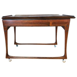 Uncommon J. Ingvar Jensen Rosewood Sliding-Top Bar Cart