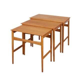 Hans Wegner Oak Nesting Tables