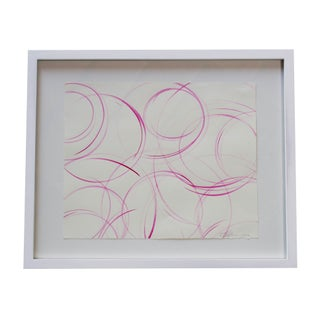 Small Framed Pink Abstract Painting