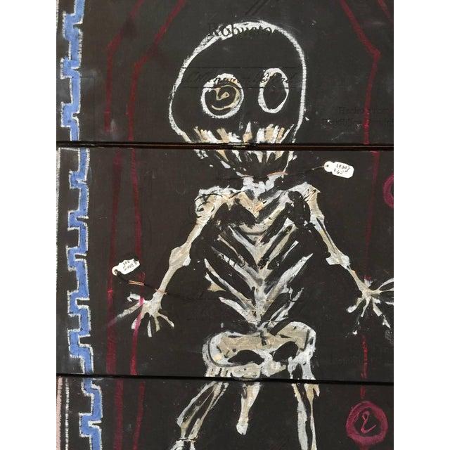 Basquiat Inspired Mixed Media Cigar Box Wall Art - Image 3 of 4