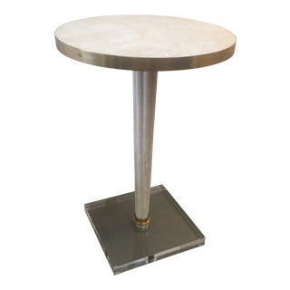 Stone & Acrylic Accent Table