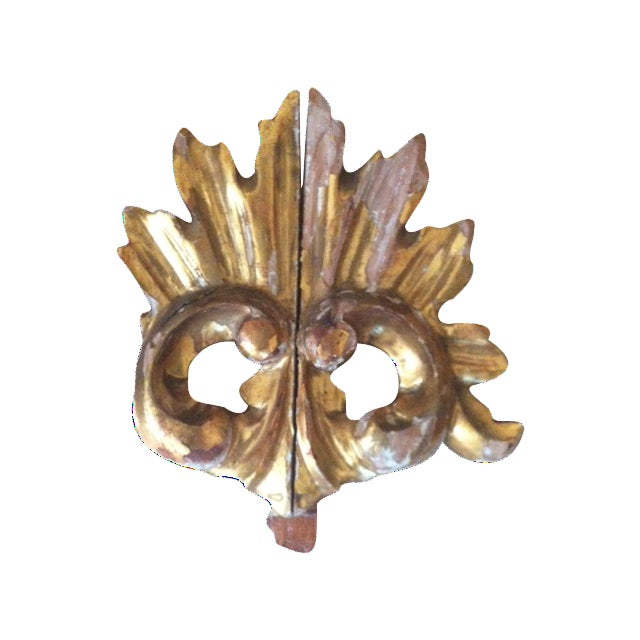 19th C. Gilt Wood French Architectural Fragment - Image 1 of 3