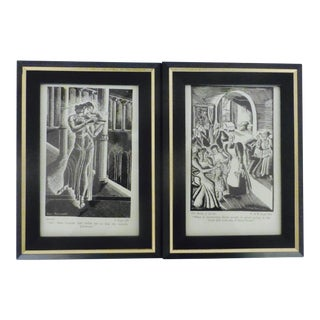 Art Deco Oscar Wilde Book Prints by Donia Nachshen - Pair
