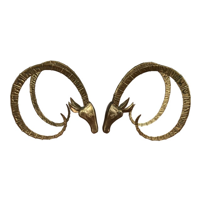 Brass Ibex Table Bases - A Pair - Image 1 of 7