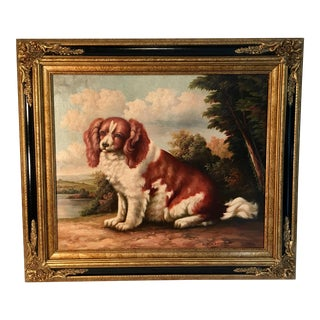 Spaniel Dog Oil Painting