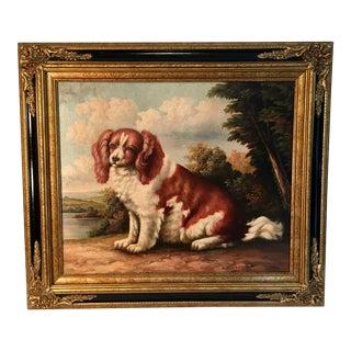 Spaniel Dog Oil Painting