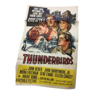 1952 Original Thunderbirds Movie Poster