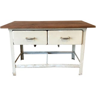 Antique Metal Scrub Kitchen Island