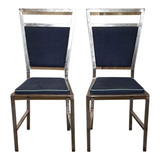 Vintage Navy Chairs - A Pair