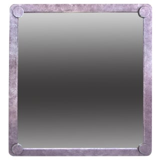 Faux-Finished Mirror with Rounded Corners