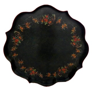 Large Hand Painted Italian Tole Tray