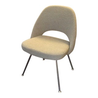 Saarinen Executive Side Chair in Boucle Neutral - Pair