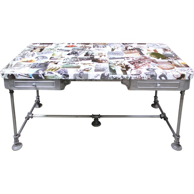 Image of Photo Collage Large Desk/Table