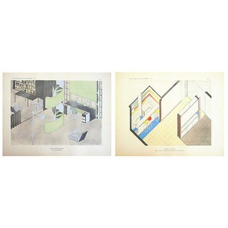 French Deco Design Pochoirs - A Pair