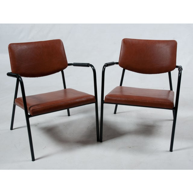 1950s Leather Armchairs - A Pair - Image 7 of 7