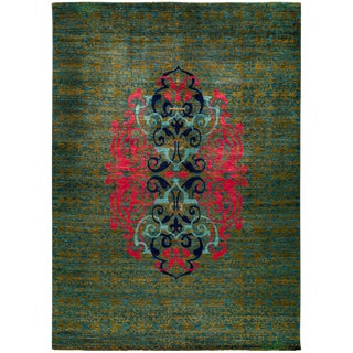 """Suzani Hand Knotted Area Rug - 10'1"""" X 13'9"""""""