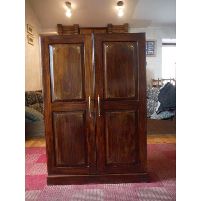 Indian Iron Wood CD/DVD Armoire - Image 2 of 10