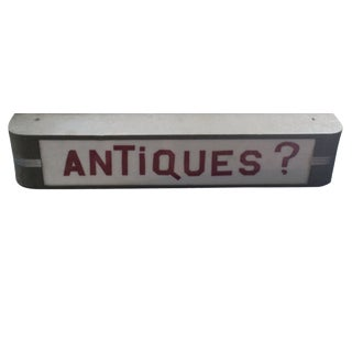 "Vintage ""Antiques"" Light Box"