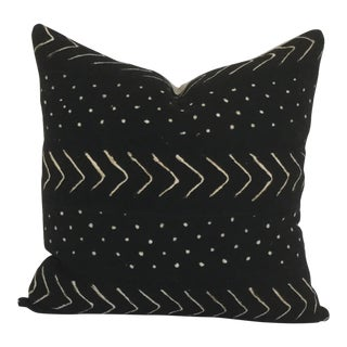 Vintage African Black Mudcloth Pillow