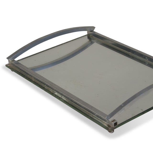 1930s Matte Nickel Frame Serving Tray - Image 7 of 9
