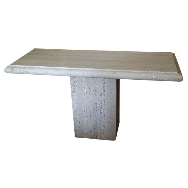 Italian Travertine Console - Image 1 of 4