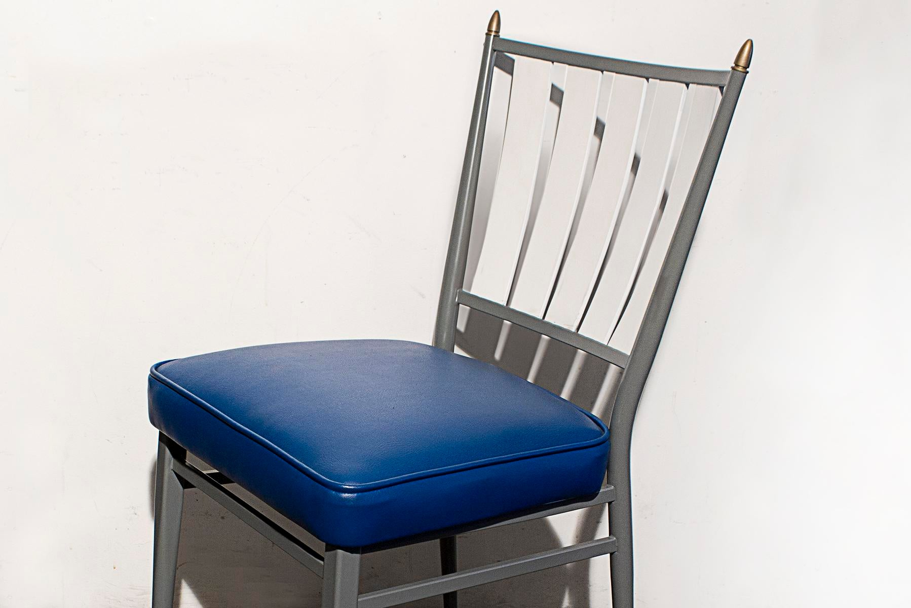 Chromcraft Dinettes: Chromcraft 1950s Slat Back Dinette Chairs