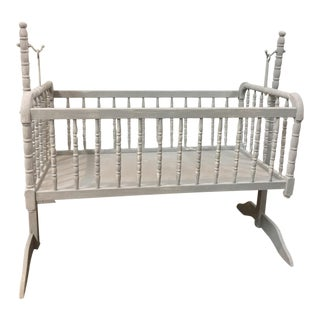1970s Gray Rocking Crib & Stand