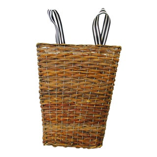 Woven French Flower Basket