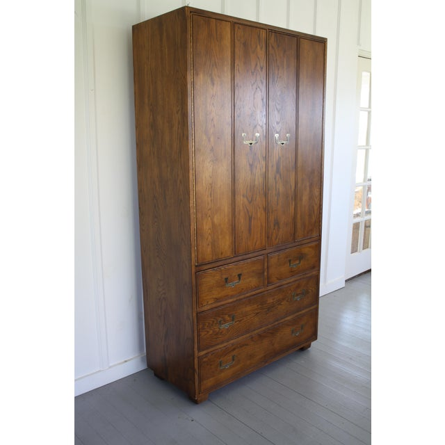 Henredon Campaign Style Armoire - Image 4 of 11
