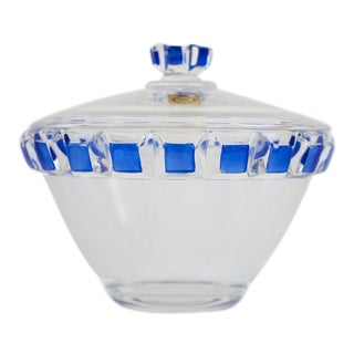 German Bleikristall Crystal Bowl With Lid
