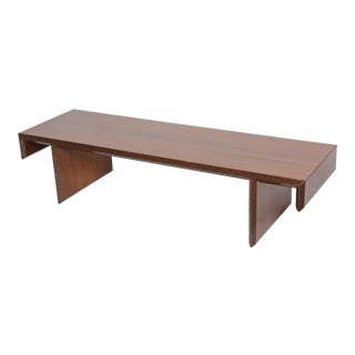 "American Modern Mahogany ""Taliesin Group"" Low Table or Bench, Frank Lloyd Wright"