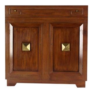 Art Deco Mid-Century Modern Refrigerated Bar Liquor Cabinet