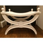 Image of Hollywood Regency Dorothy Draper Ottoman X Bench