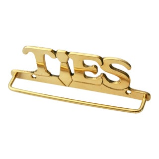 Wall-Mounted Brass Tie Bar Bracket