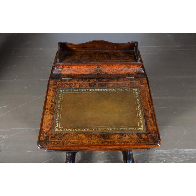 19th C. Burl Walnut Victorian Davenport Desk - Image 4 of 10