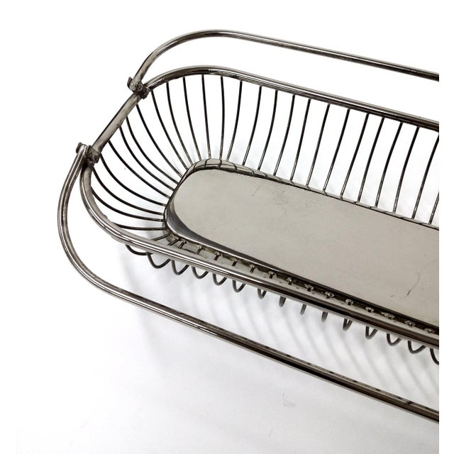 Silver Plate Wire Bread Basket - Image 5 of 8