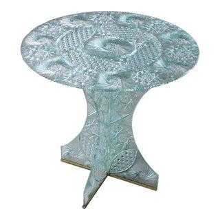 Modern Brilliant Cut Crystal Round Table