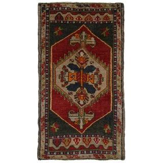 Vintage Yastik Turkish Carpet -- 1'10 x 3'3