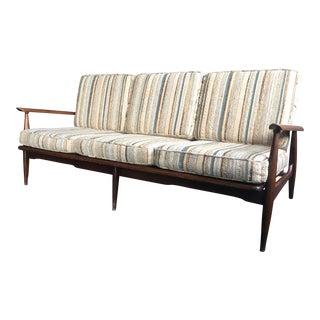 Danish Modern Walnut Open Arm Sofa