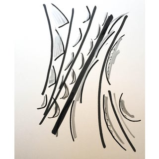 """Abstract Drawing """"Black Sees White"""" by Erik Sulander"""