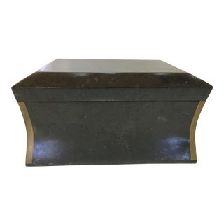 Maitland Smith Brass & Tessellated Stone Box