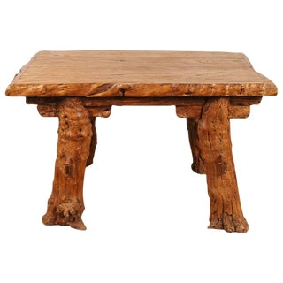 """Chinese Rustic """"Root"""" Table"""