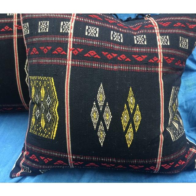 Burmese Chin Tribal Textile Pillows - A Pair - Image 3 of 7