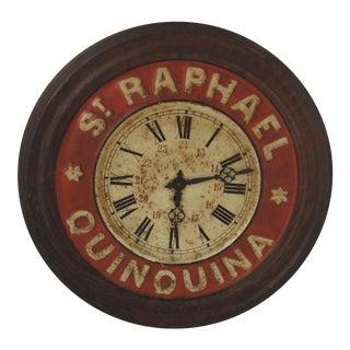 Antique St. Raphael Quinquina French Clock