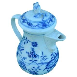 Meissen Delft Blue Onion Coffee Pot