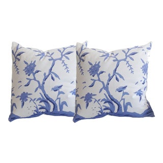 Dana Gibson Cliveden in Blue Pillows - A Pair
