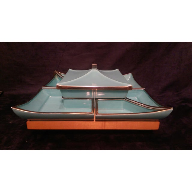 Mid-Century Asian Lazy Susan Serving Set - Image 2 of 10