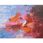 """Image of C. Plowden """"Sailing at Daybreak"""" Abstract Painting"""
