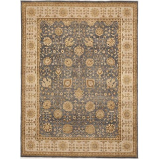 "Hand-Knotted Wool Rug - 8'10""x 11'10"""